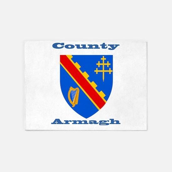 County Armagh COA 5'x7'Area Rug