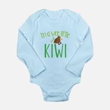 Im a wee little kiwi (New Zealand map) Body Suit