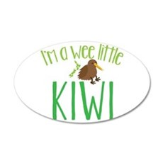 Im a wee little kiwi (New Zealand map) Wall Decal