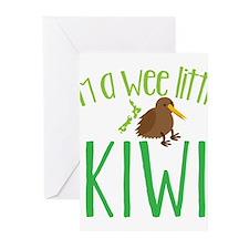 Im a wee little kiwi (New Zealand map) Greeting Ca