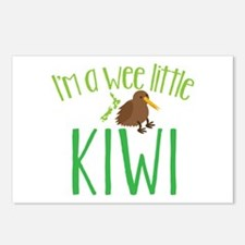 Im a wee little kiwi (New Zealand map) Postcards (