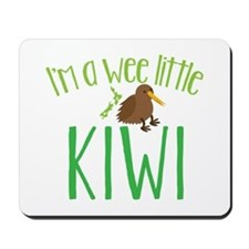 Im a wee little kiwi (New Zealand map) Mousepad