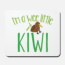 Im a wee little kiwi (New Zealand map) Mousepad