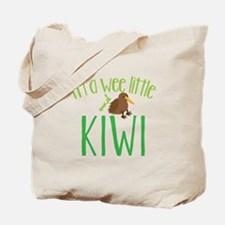 Im a wee little kiwi (New Zealand map) Tote Bag