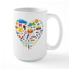 Ecuador World Cup 2014 Heart Mug