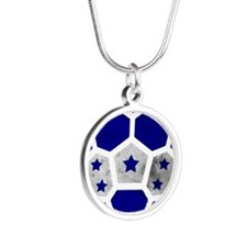 Honduras World Cup 2014 Silver Round Necklace