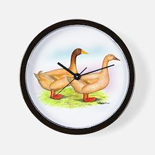 American Buff Ducks Wall Clock
