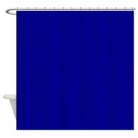 Dark Blue Shower Curtain By Makanahele1