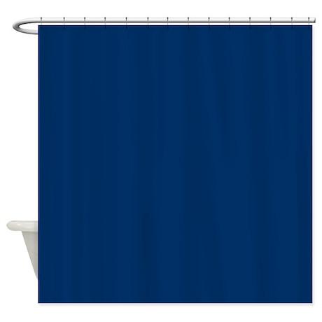 Dark Midnight Blue Shower Curtain By Makanahele1