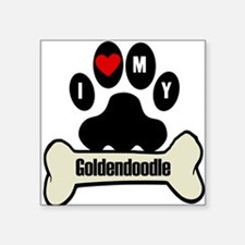 I Heart My Goldendoodle Sticker