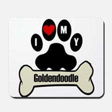I Heart My Goldendoodle Mousepad