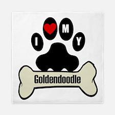 I Heart My Goldendoodle Queen Duvet