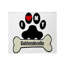 I Heart My Goldendoodle Throw Blanket