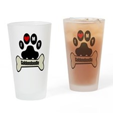 I Heart My Goldendoodle Drinking Glass