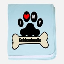 I Heart My Goldendoodle baby blanket