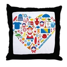 Bosnia-Herzegovina World Cup 2014 Hea Throw Pillow