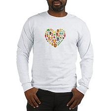 Nigeria World Cup 2014 Heart Long Sleeve T-Shirt