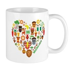 Nigeria World Cup 2014 Heart Mug