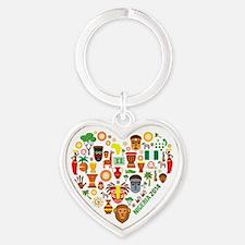 Nigeria World Cup 2014 Heart Heart Keychain
