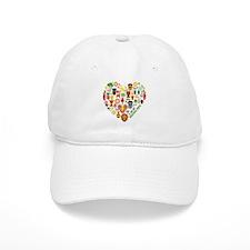 Nigeria World Cup 2014 Heart Baseball Cap