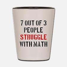 math struggle2 Shot Glass