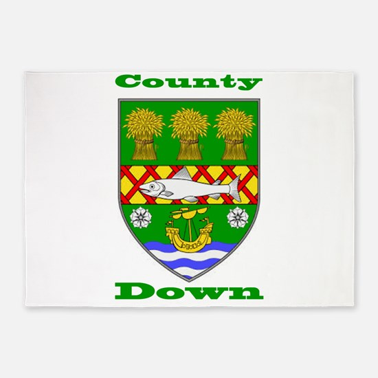 County Down COA 5'x7'Area Rug
