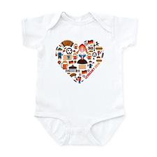 Germany World Cup 2014 Heart Infant Bodysuit