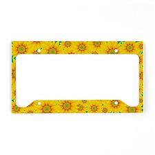 Summer Sunflowers License Plate Holder