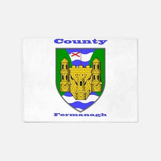 County Fermanagh COA 5'x7'Area Rug