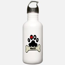 I Heart My Mastiff Water Bottle