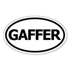 Oval Sticker (Gaffer)