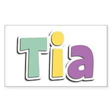 Tia Spring14 Rectangle Decal