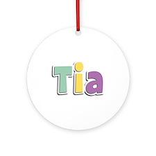 Tia Spring14 Round Ornament