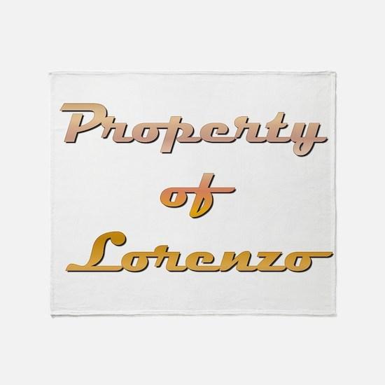 Property Of Lorenzo Male Throw Blanket