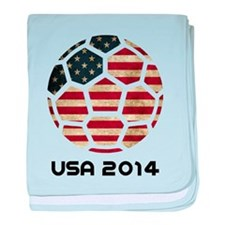 USA World Cup 2014 baby blanket