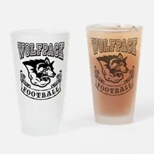Wolfpack Football Drinking Glass