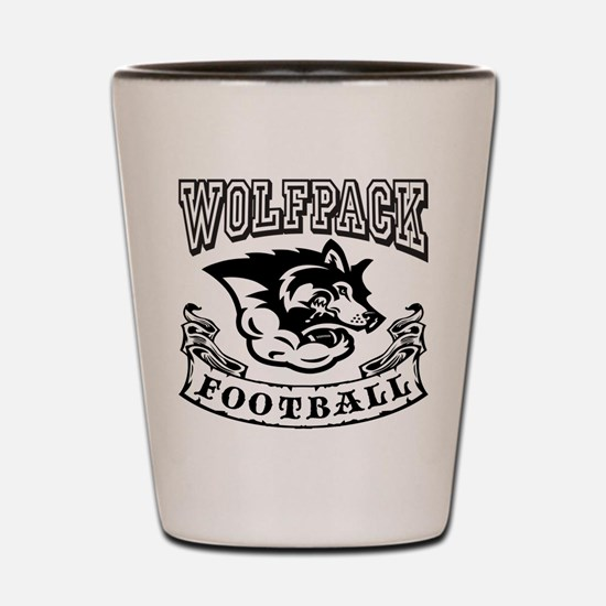Wolfpack Football Shot Glass