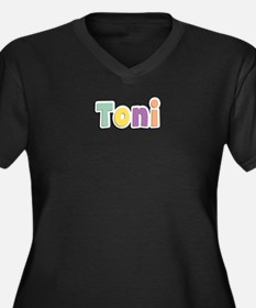 Toni Spring14 Women's Plus Size V-Neck Dark T-Shir