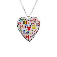 Belgium World Cup 2014 Heart Necklace