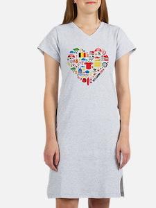 Belgium World Cup 2014 Heart Women's Nightshirt
