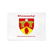 County Londonderry COA 5'x7'Area Rug