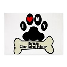 I Heart My German Shorthaired Pointer 5'x7'Area Ru