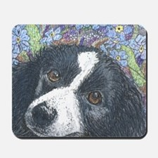Forget me not Border Collie Mousepad