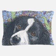 Forget me not Border Collie Pillow Case