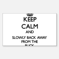 Keep calm and slowly back away from Puck Decal