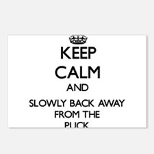 Keep calm and slowly back away from Puck Postcards