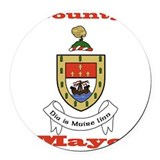 Irish mayo Round Car Magnets