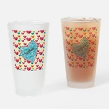 Lollipop Candy Monogram Hearts Drinking Glass