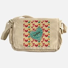 Lollipop Candy Monogram Hearts Messenger Bag