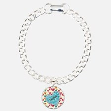 Lollipop Candy Monogram Hearts Bracelet
